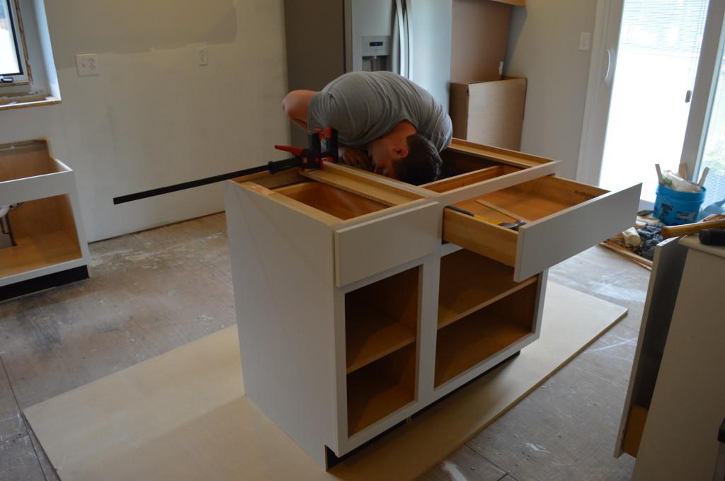 Installing Base Cabinets 2
