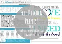 kitchen prints collage
