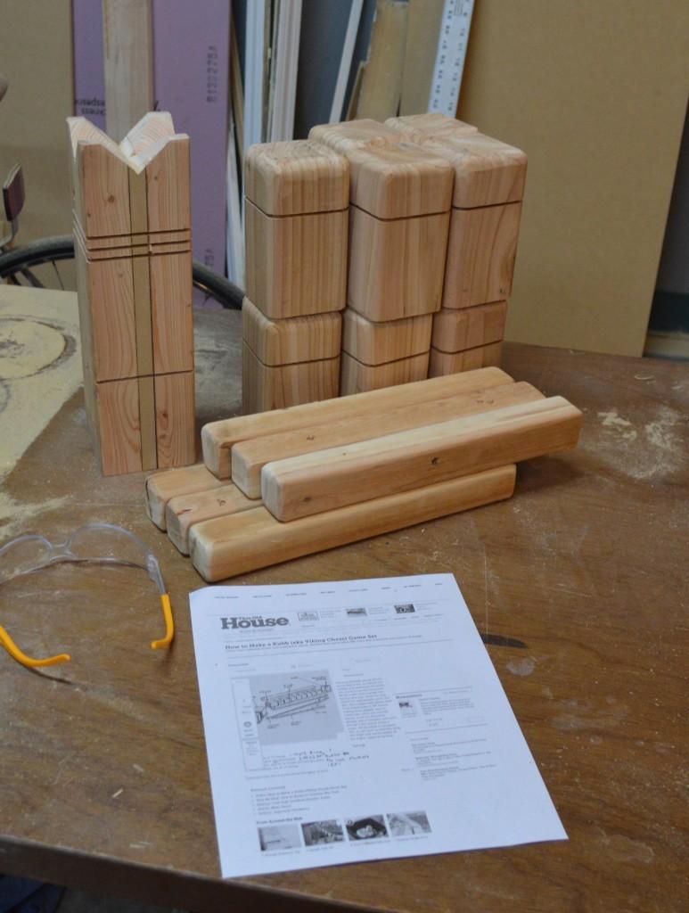 DIY Wooden Kubb Pieces