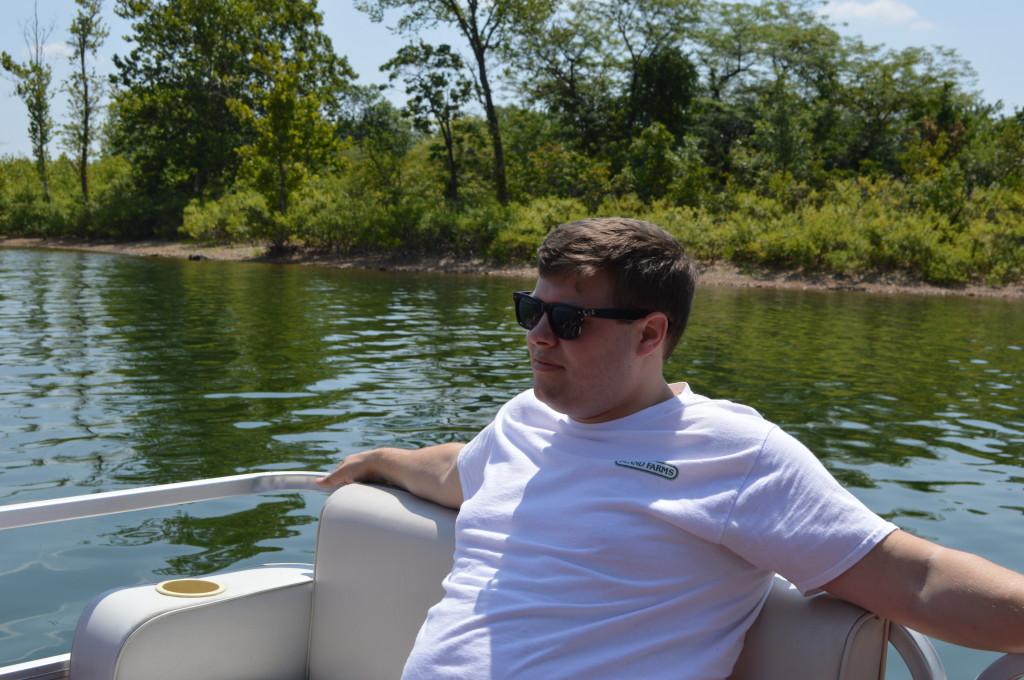Wyatt on Boat