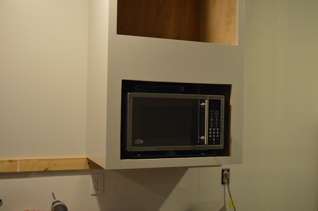 Adding Microwave to Kitchen Cabinet