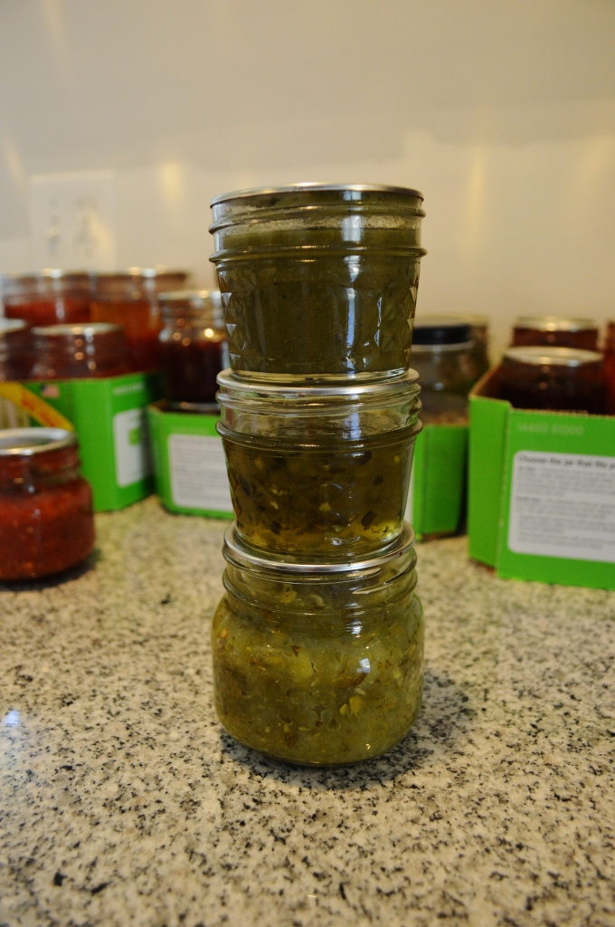Home Canned Hot Sauce Pepper Jelly and Zucchini Relish