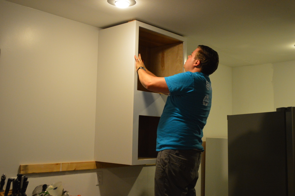 Mounting Microwave Cabinet in Kitchen