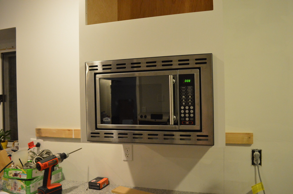 Mounting Microwave in Kitchen Cabinet 2