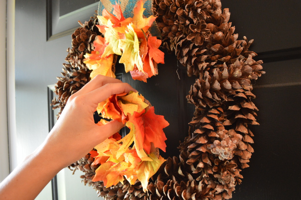 Adding Initial to Fall Wreath