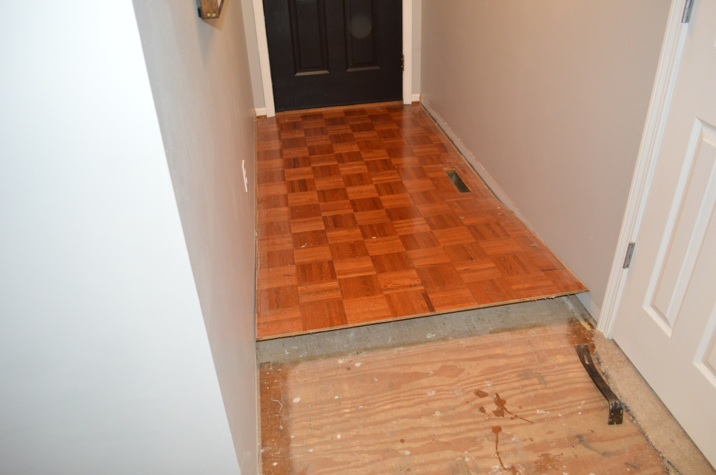 Demo Entryway Flooring 2