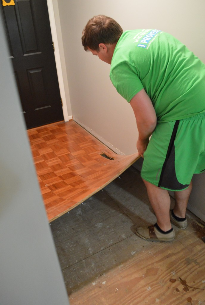 Demo Entryway Flooring 4