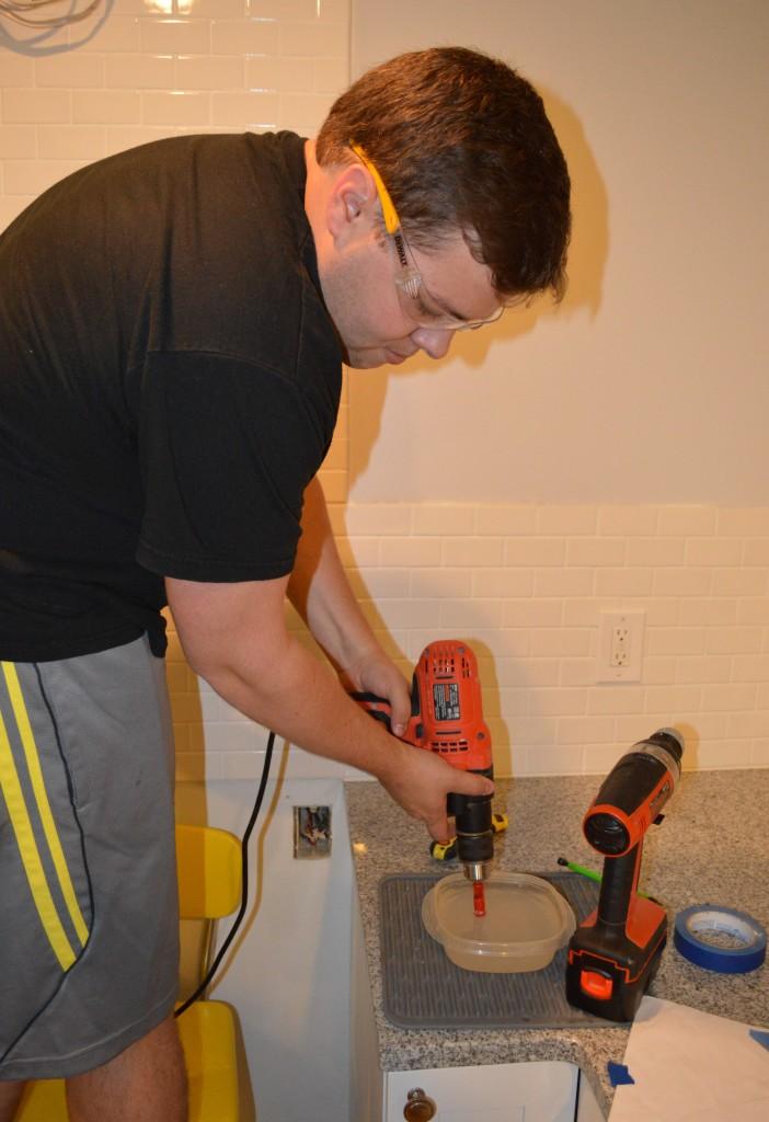 Drilling Holes for Range Hood in Kitchen 2