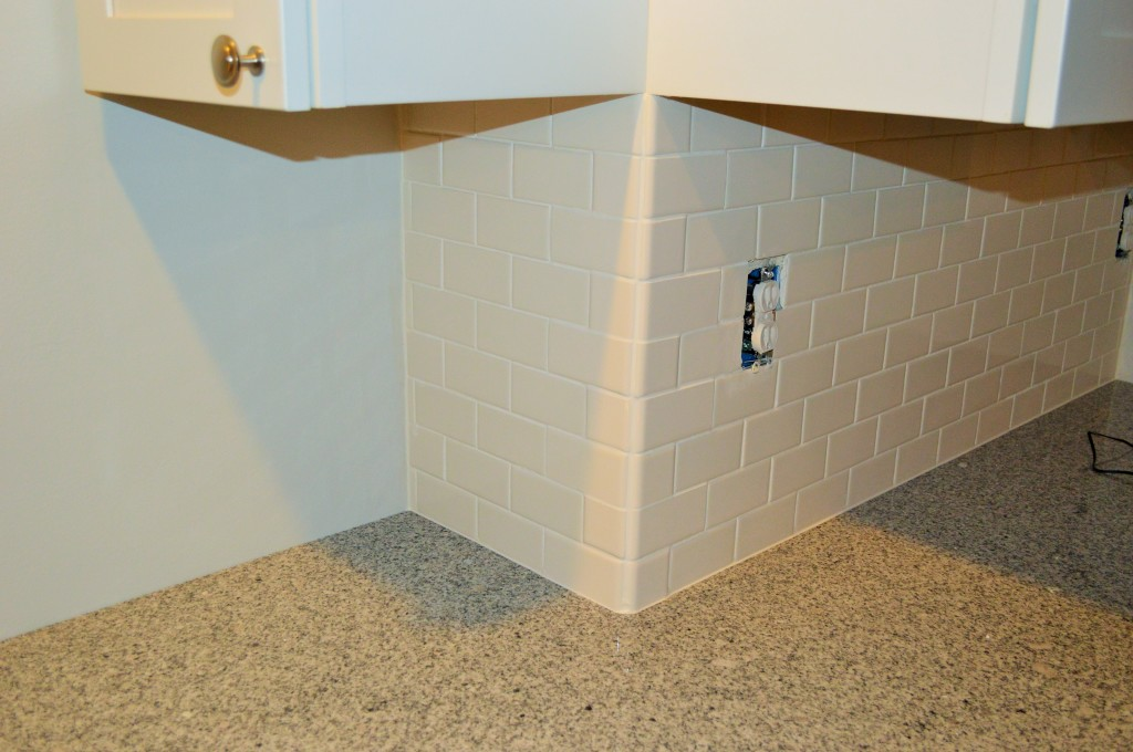 Finished Kitchen Subway Tile Corner 2