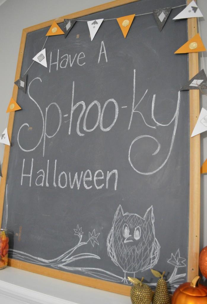 Halloween Decor Chalkboard
