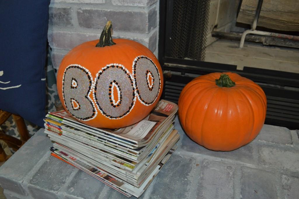 Halloween Decor Glitter Pumpkin