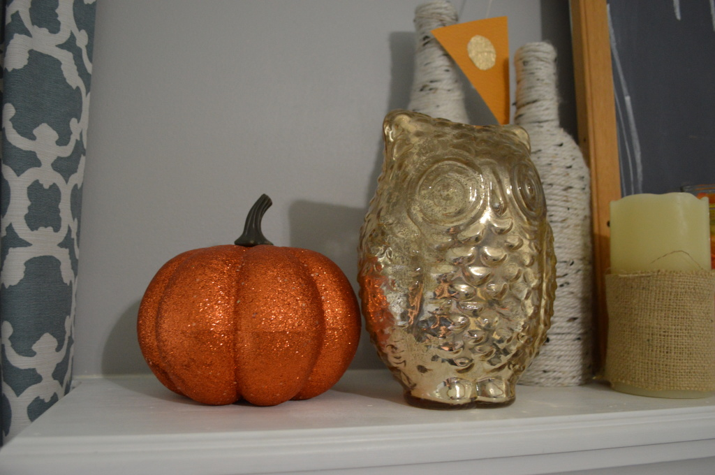 Halloween Decor Glitter and Owl