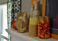 Halloween Decor Gold Owl
