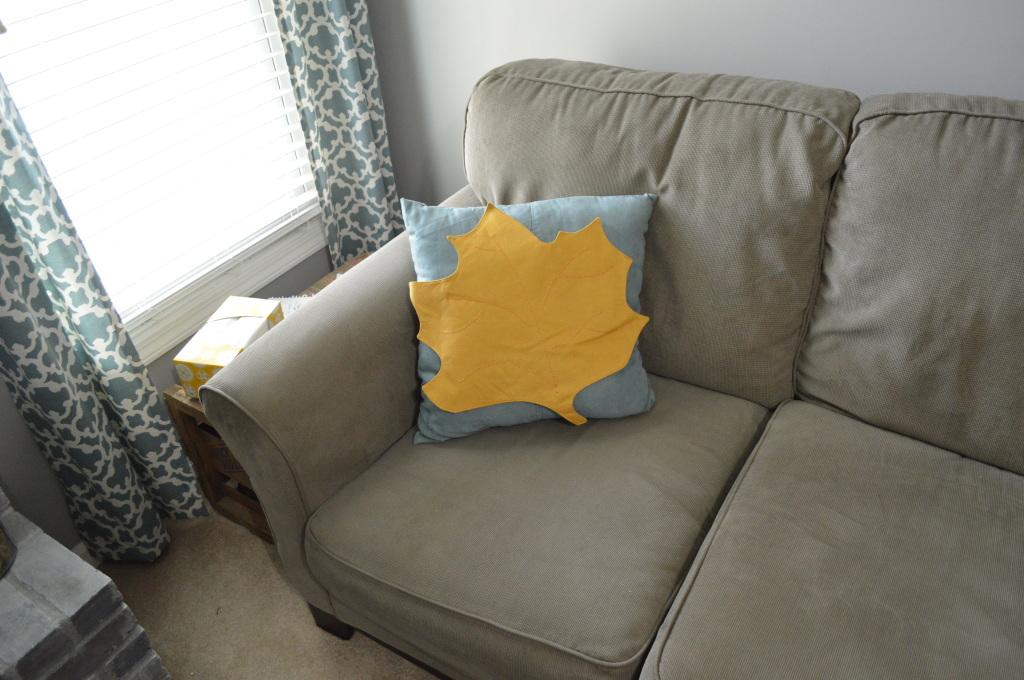 Halloween Decor Leaf Pillow