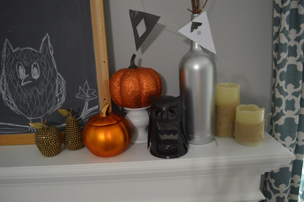 Halloween Decor Thrifted Owl