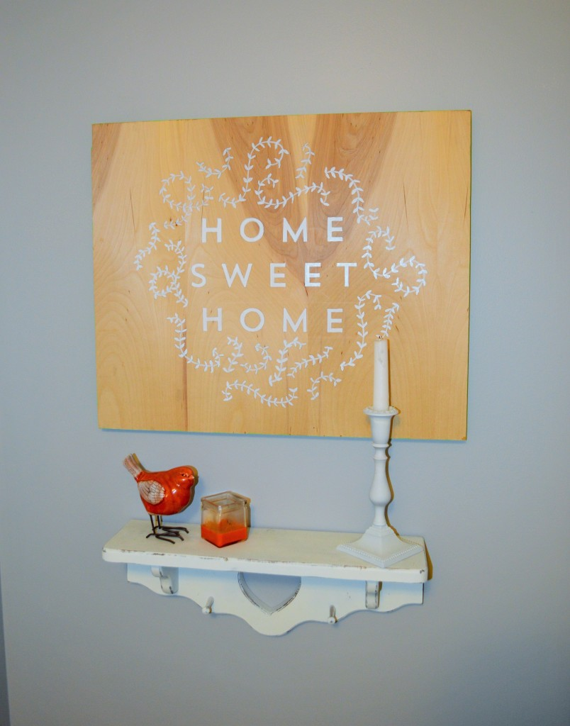 Home Sweet Home Sign Hallway 4