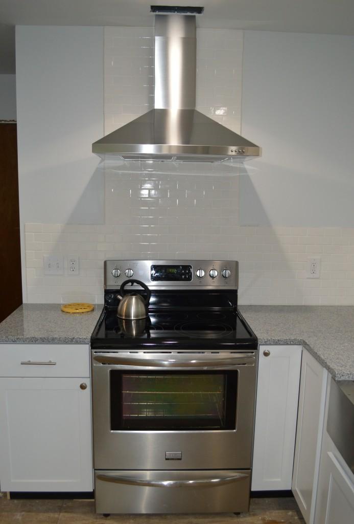 Installed Range Hood in Kitchen 1