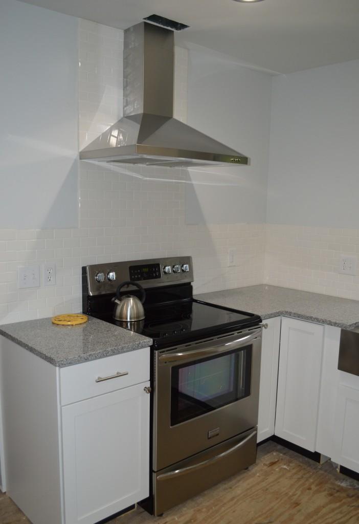 Installed Range Hood in Kitchen 2