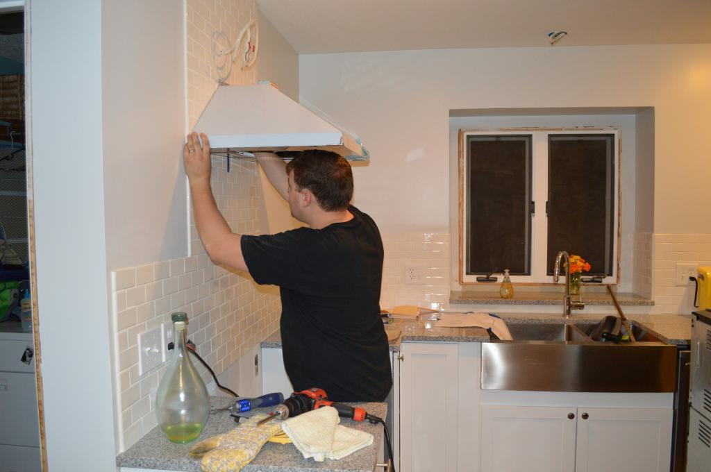 Mounting Range Hood in Kitchen 6