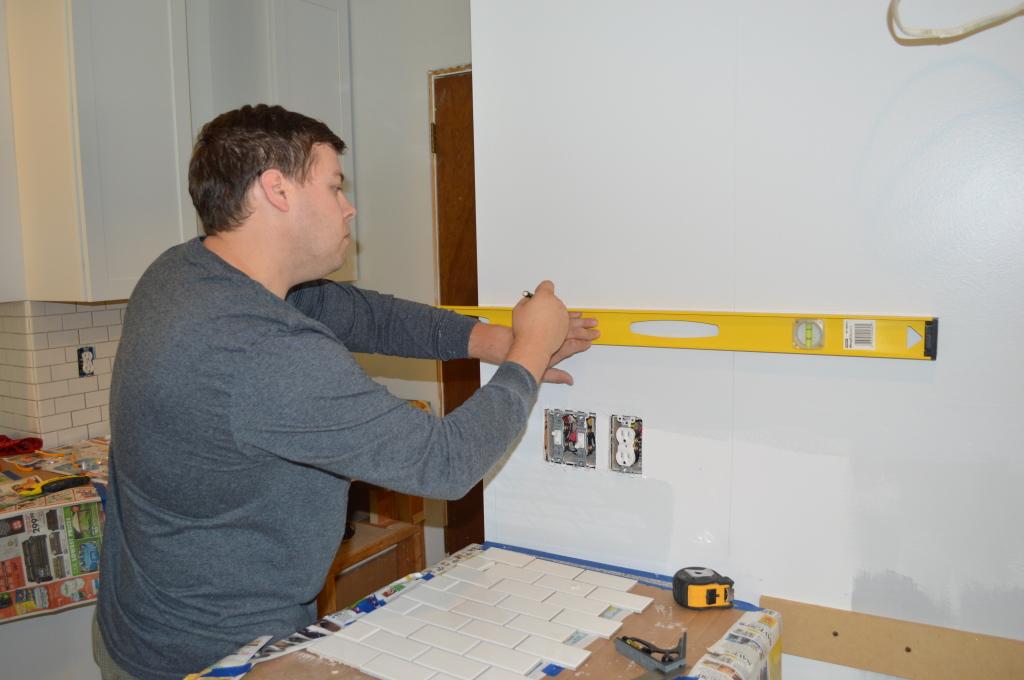 Prepping to Install Tile Backsplash