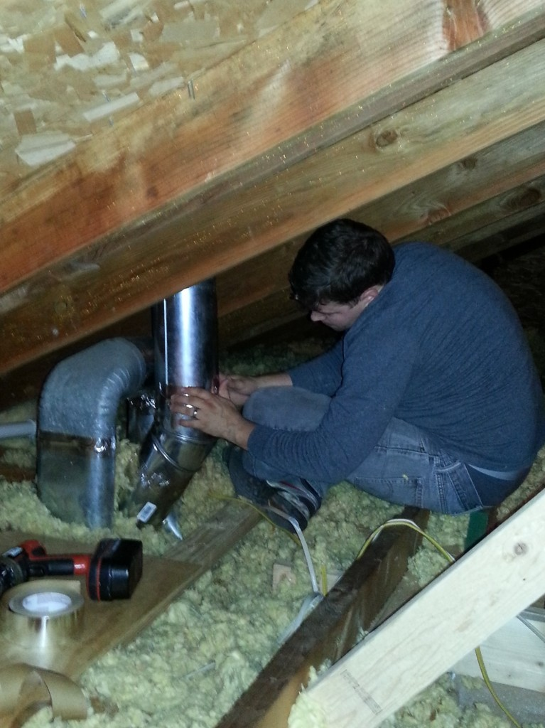 Taping Vent Pipe In Attic