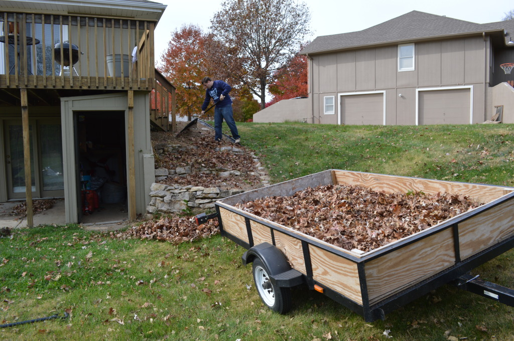 Fall Leaves on Trailer