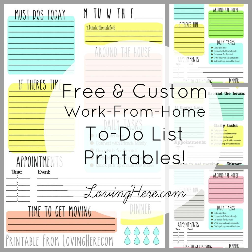 Free & Custom To-Do List Printables