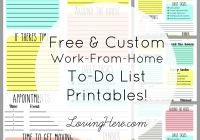 Free & Custom To-Do List Printables