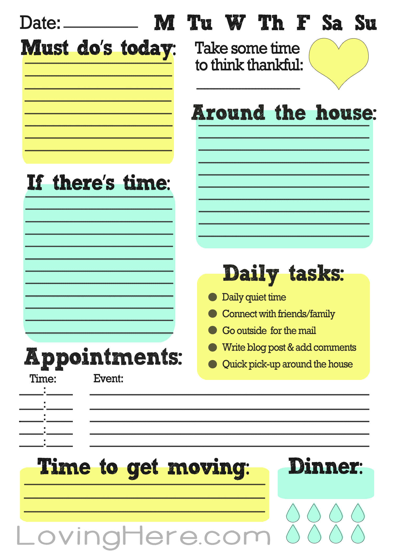 Resource image with printable to do lists for work