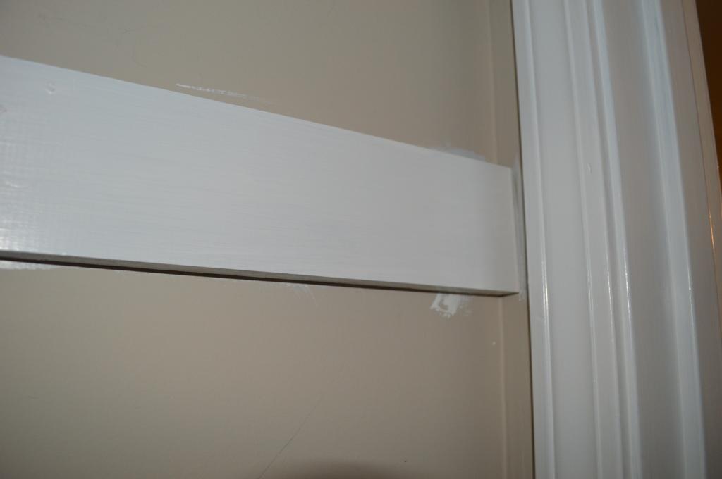Painting Trim in Coat Closet 2