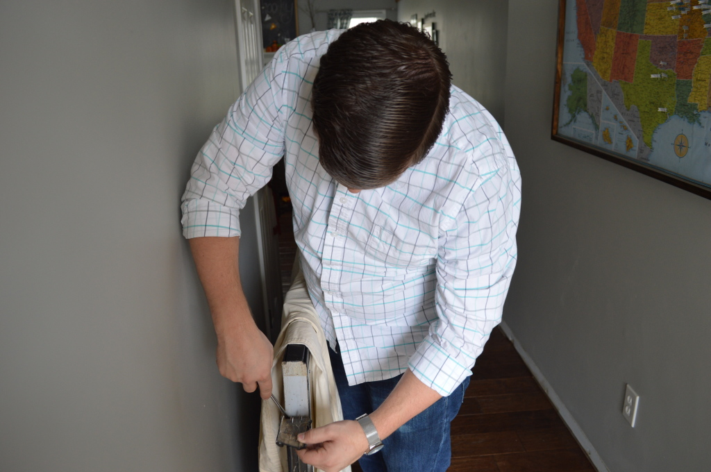 Removing Old Weather Strip on Door