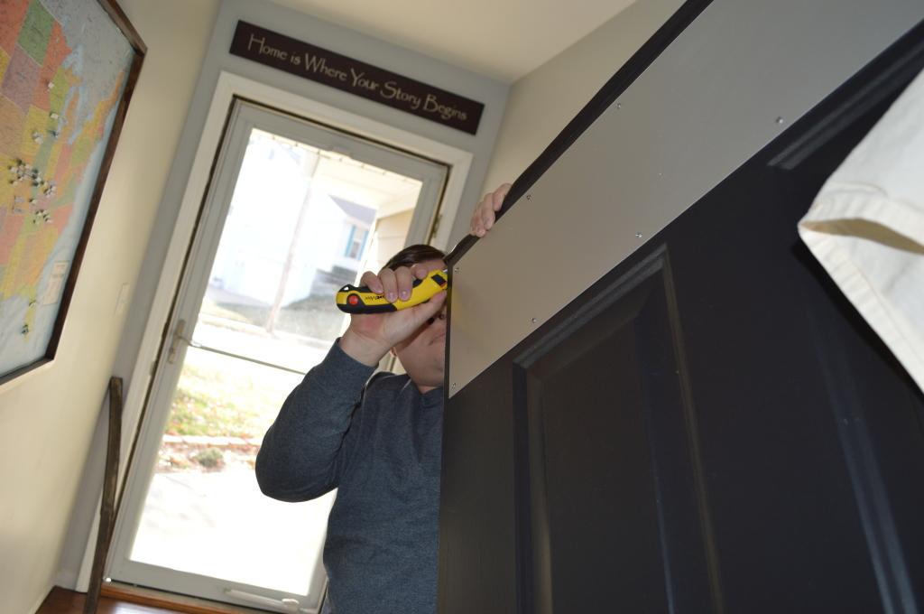 Removing Old Weather Strip on Door 8