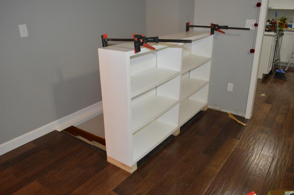 Built In Bookshelves Backing
