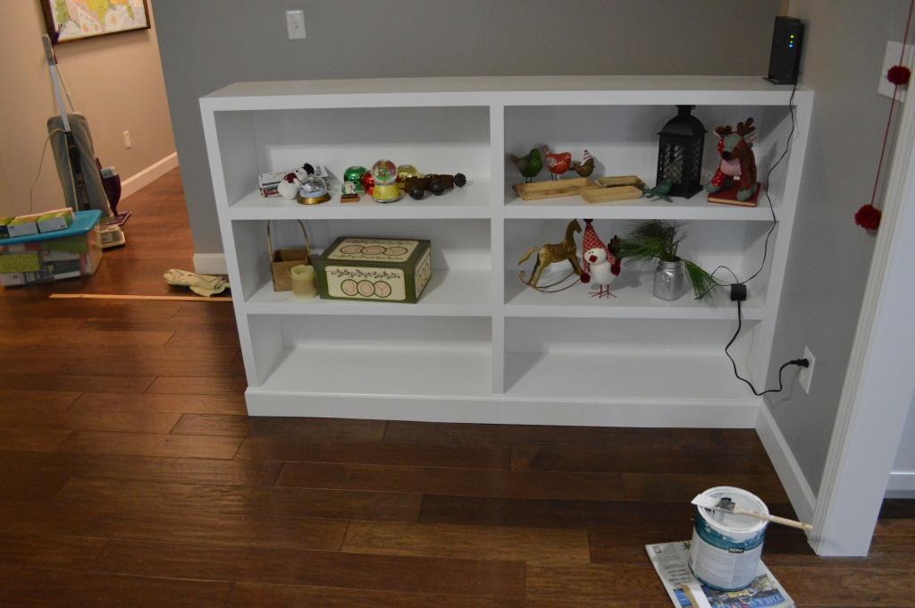 Built In Bookshelves Done