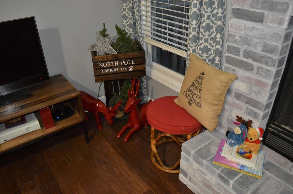 Christmas Decor TV Corner 2