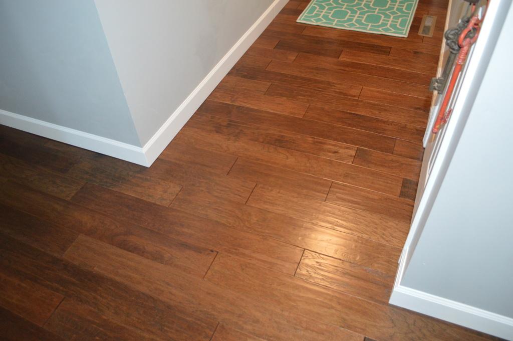 Finished Entryway Hardwood Flooring