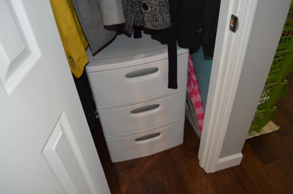 Finished Hardwood Flooring Coat Closet
