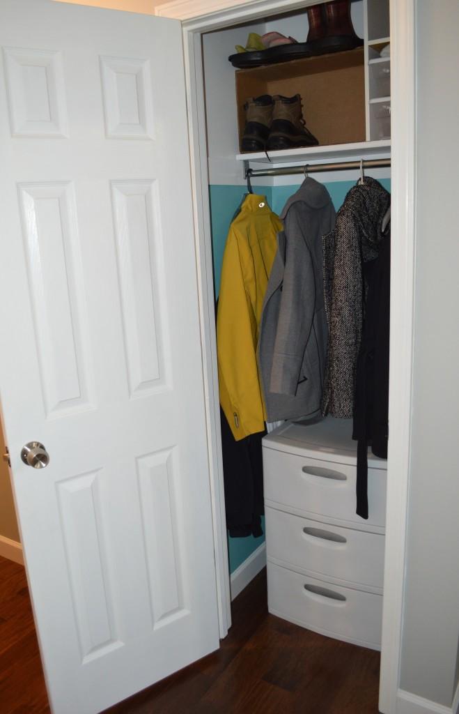 Finished Hardwood Flooring Coat Closet 2