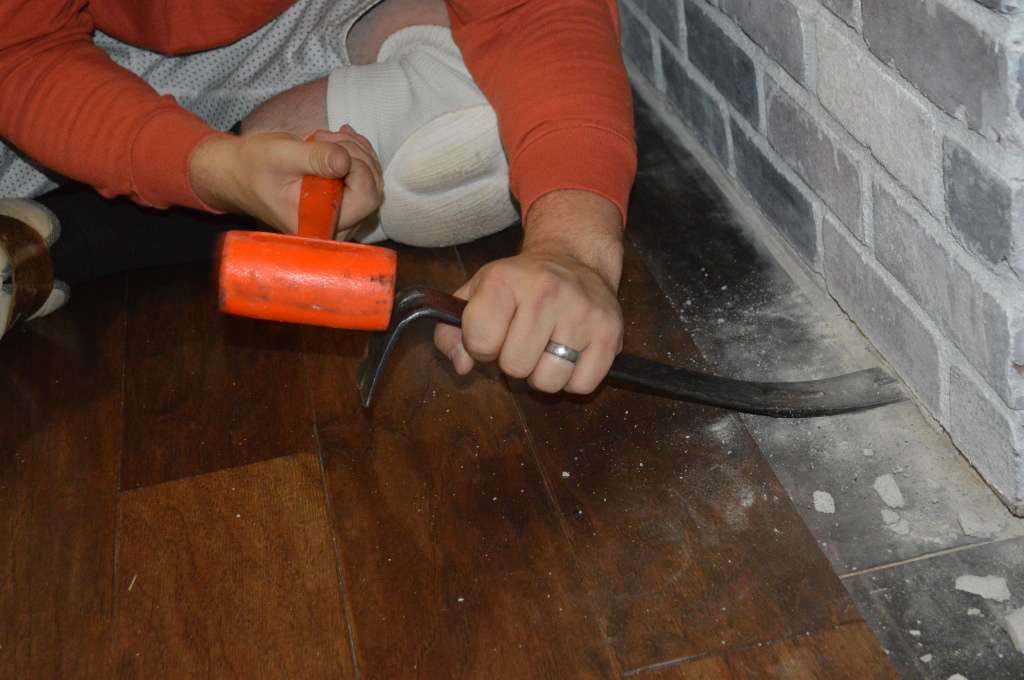 Flooring Fireplace Prep