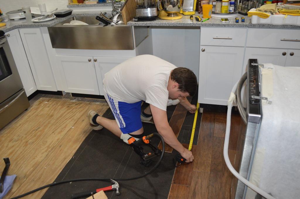 Flooring Kitchen Under Dishwasher