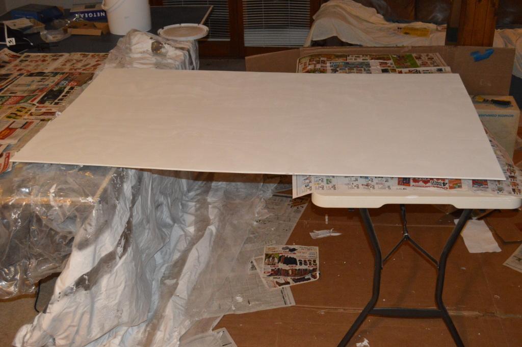 Painting Bookshelf Backing