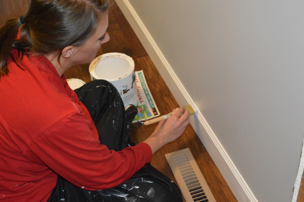 Painting New Baseboard Trim 2