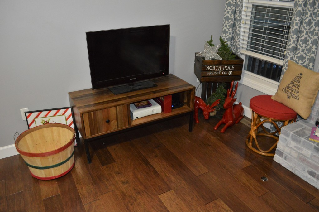 Christmas Decor TV Corner