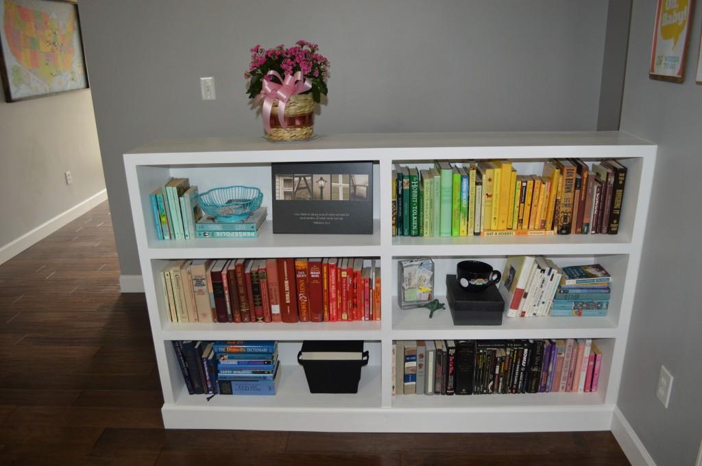 Rainbow Colored Bookshelves Arrangement 5