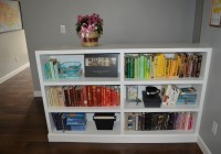 Rainbow Colored Bookshelves Arrangement 5