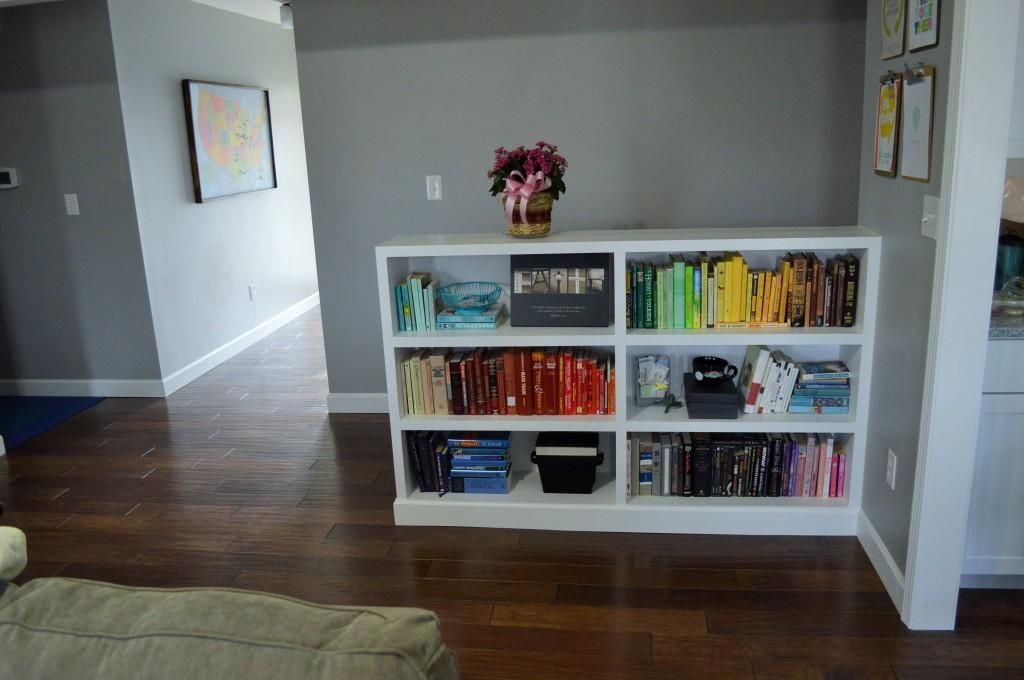 Rainbow Colored Bookshelves Arrangement 6
