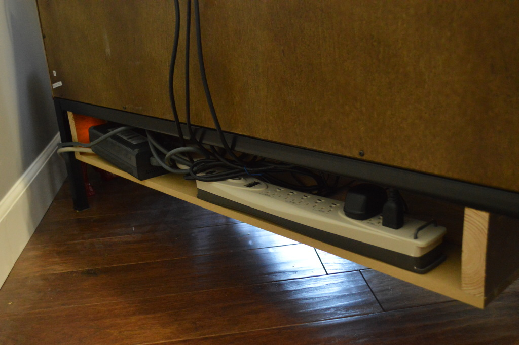 TV Stand Cord Cubby 3