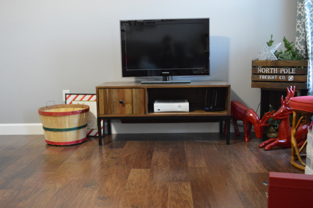 TV Stand Cord Cubby Front View