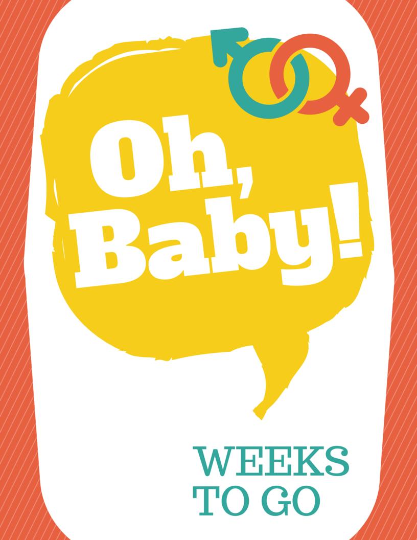 Free Pregnancy Countdown Printable - Loving Here