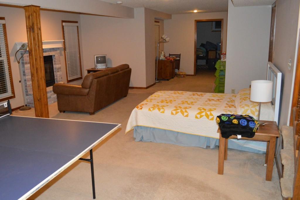 Basement Makeshift Guestroom 2
